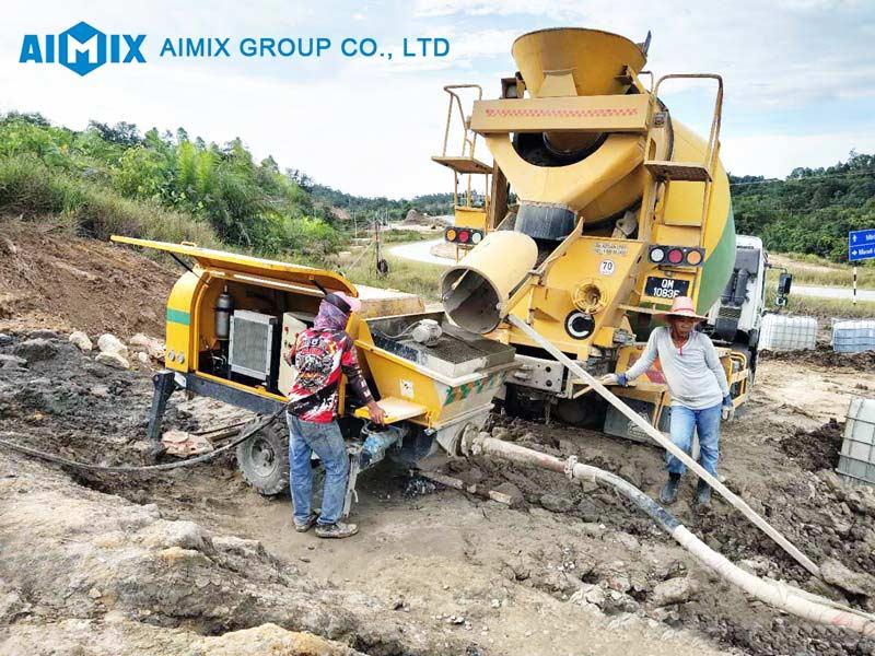 AIMIX cement mortar pump in Malaysia