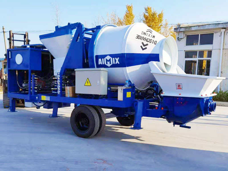 ABJZ40C Diesel concrete mixer pump sent to the Philippines