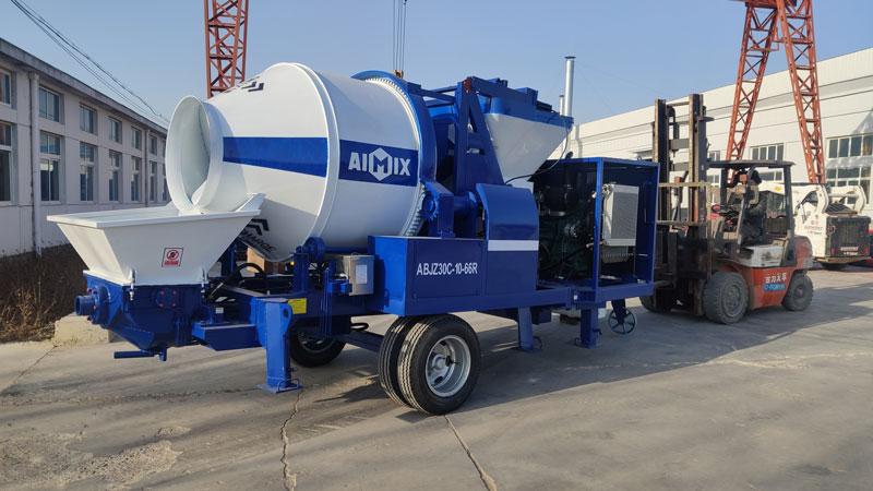 ABJZ30C concrete mixer pump loaded